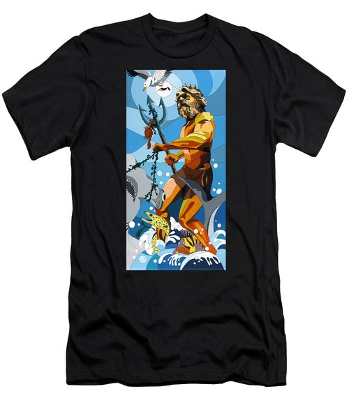 Poseidon - W/hidden Pictures Men's T-Shirt (Athletic Fit)
