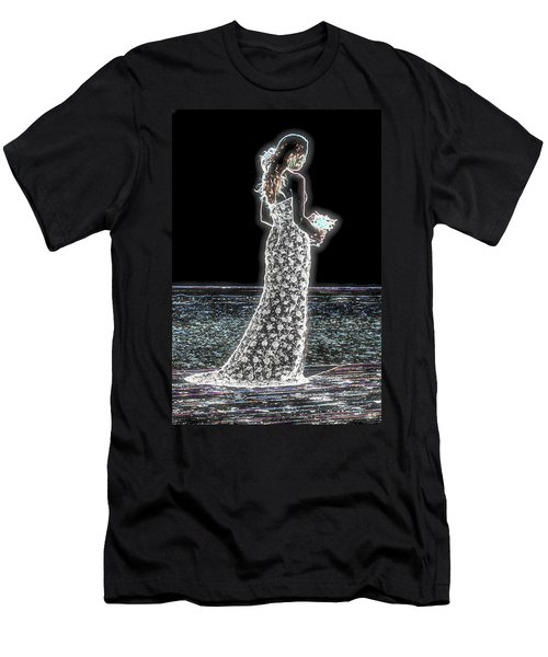 Posing Shyly Men's T-Shirt (Slim Fit) by Leticia Latocki