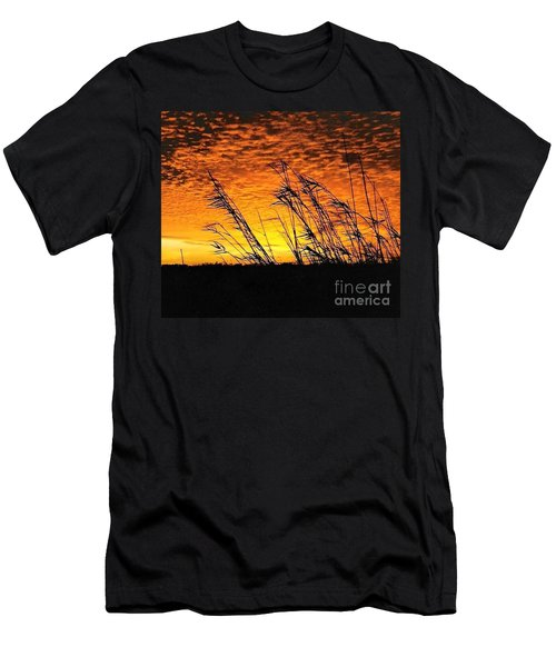 Post Hurricane Rita At Dockside In Beaumont Texas Usa Men's T-Shirt (Slim Fit) by Michael Hoard