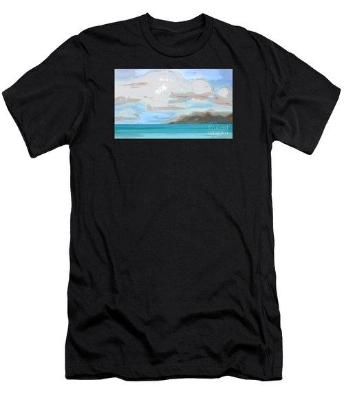 Posterized Landscape Alaska  Men's T-Shirt (Athletic Fit)
