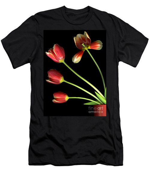 Pot Of Tulips Men's T-Shirt (Athletic Fit)