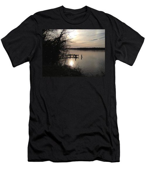 Men's T-Shirt (Slim Fit) featuring the photograph Potomac Reflective by Charles Kraus