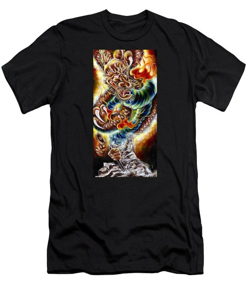 Power Of Spirit Men's T-Shirt (Slim Fit) by Hiroko Sakai