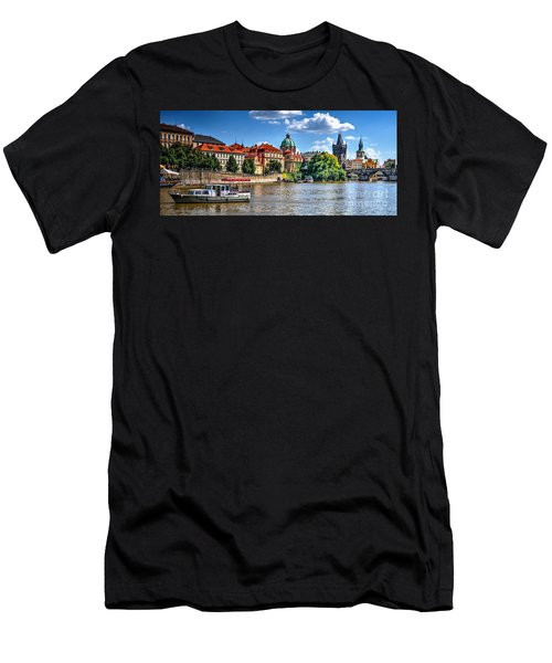 Men's T-Shirt (Slim Fit) featuring the photograph Prague by Joe  Ng