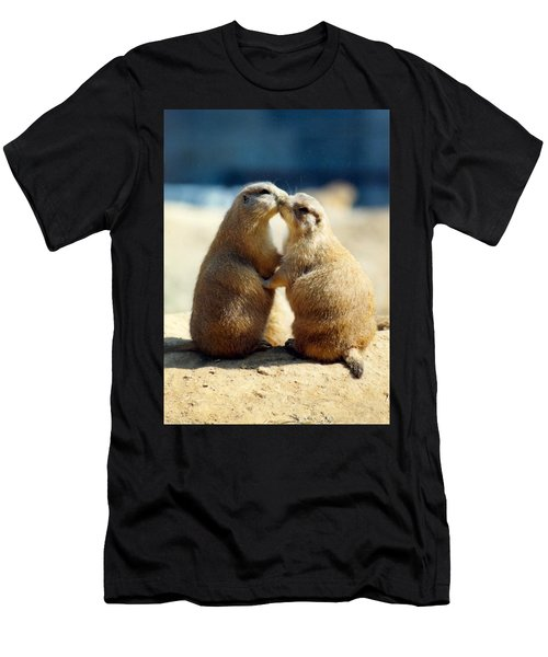 Prairie Dogs Kissing Men's T-Shirt (Athletic Fit)