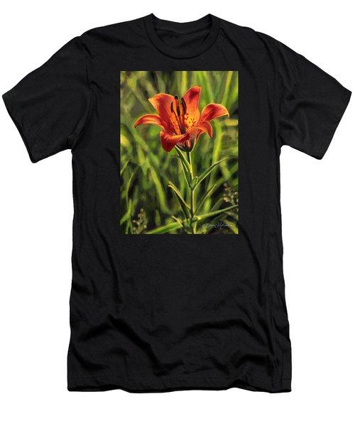 Prairie Lily Men's T-Shirt (Athletic Fit)