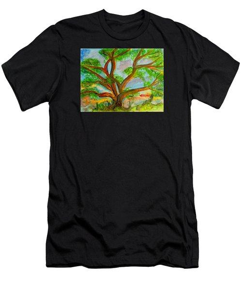 Prayer Mountain Tree Men's T-Shirt (Athletic Fit)