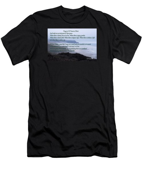 Prayer Of St Francis Of Assisi Men's T-Shirt (Athletic Fit)