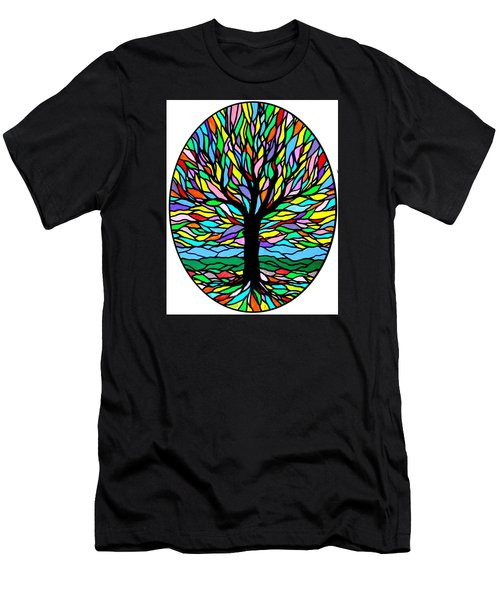 Prayer Tree Men's T-Shirt (Slim Fit) by Jim Harris