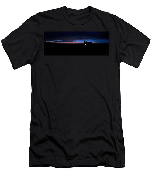 Pre Dawn Light Panorama At Quoddy Men's T-Shirt (Slim Fit) by Marty Saccone