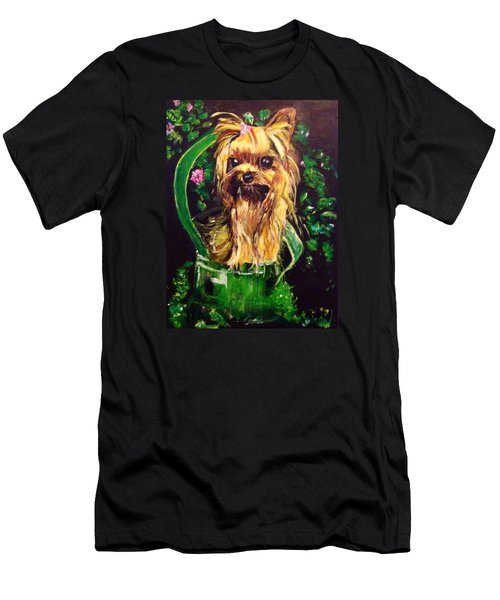 Men's T-Shirt (Slim Fit) featuring the painting Pretty Bambi by Belinda Low