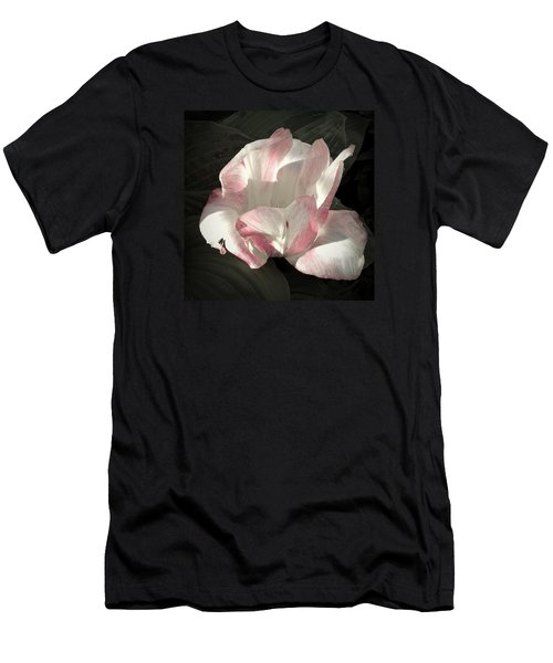 Men's T-Shirt (Slim Fit) featuring the photograph Pretty In Pink by Photographic Arts And Design Studio