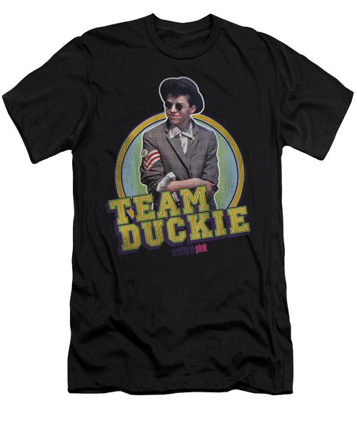 Pretty In Pink - Team Duckie Men's T-Shirt (Athletic Fit)