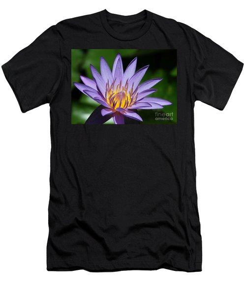 Pretty Purple Petals Men's T-Shirt (Athletic Fit)
