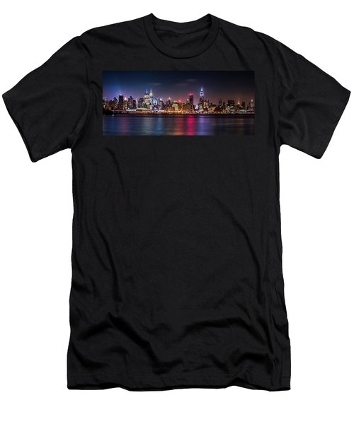 Pride Weekend Panorama Men's T-Shirt (Slim Fit) by Mihai Andritoiu