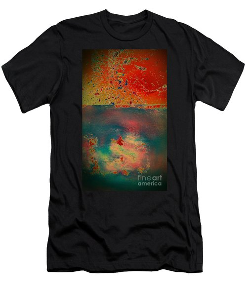 Men's T-Shirt (Slim Fit) featuring the painting Primordial by Jacqueline McReynolds