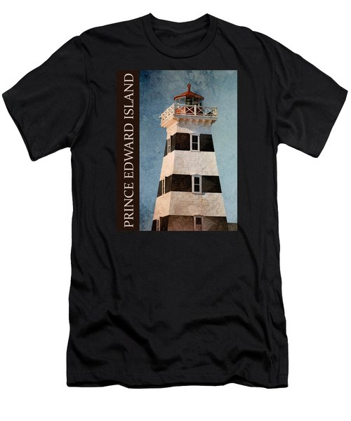 Men's T-Shirt (Slim Fit) featuring the photograph Prince Edward Island Lighthouse by WB Johnston