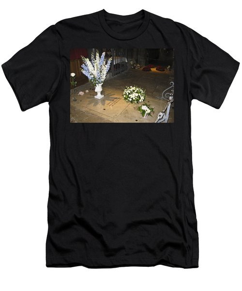 Men's T-Shirt (Slim Fit) featuring the photograph Princess Grace Tomb by Allen Sheffield