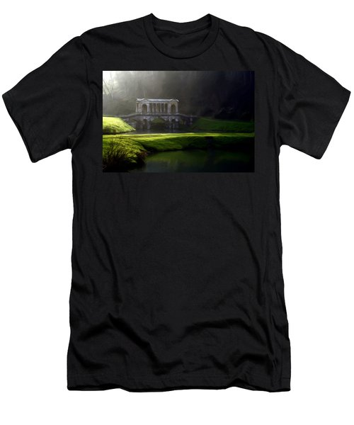 Men's T-Shirt (Slim Fit) featuring the digital art Prior Park Bath by Ron Harpham