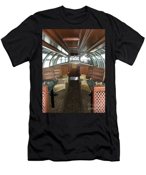 Private Dome Rail Car  Men's T-Shirt (Athletic Fit)