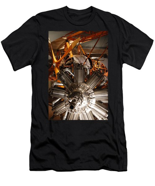 Prop Plane Engine Illuminated Men's T-Shirt (Athletic Fit)