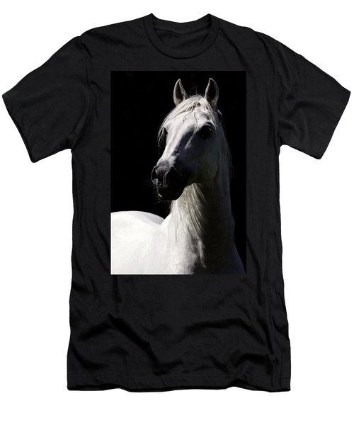 Proud Stallion Men's T-Shirt (Slim Fit) by Wes and Dotty Weber