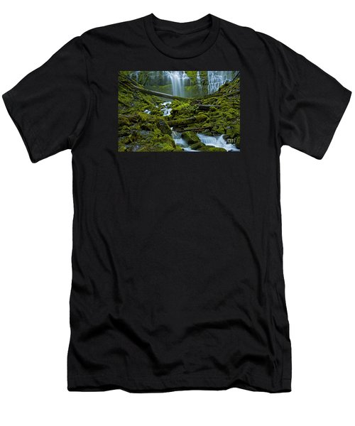 Men's T-Shirt (Slim Fit) featuring the photograph Proxy Falls by Nick  Boren