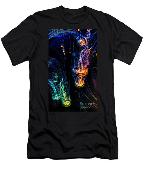 Psychedelic Cnidaria Men's T-Shirt (Slim Fit) by Olga Hamilton