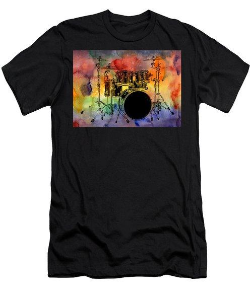 Psychedelic Drum Set Men's T-Shirt (Athletic Fit)