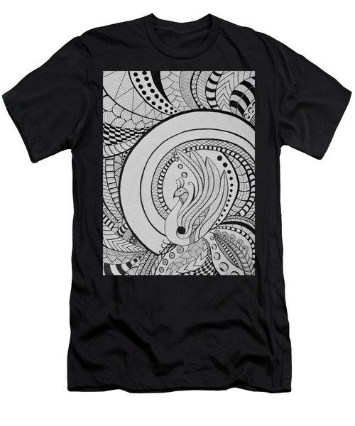 Psychedelic Peacock - Zentangle Drawing - Ai P.nilson Men's T-Shirt (Athletic Fit)
