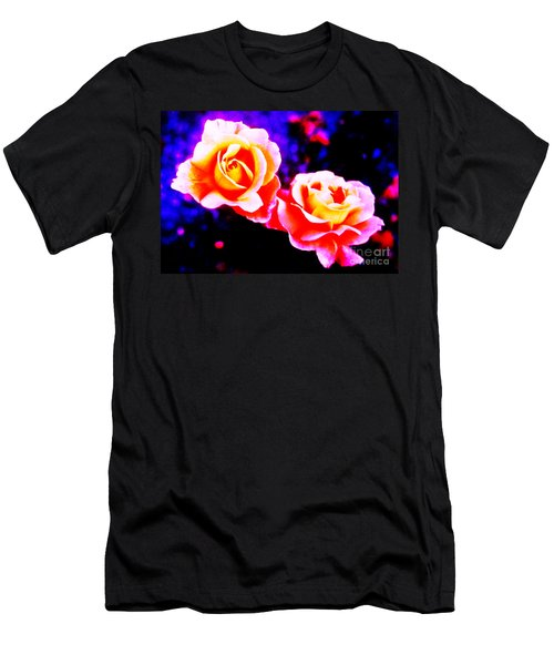 Psychedelic Roses Men's T-Shirt (Athletic Fit)