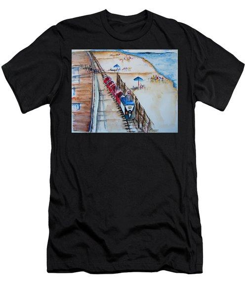Pt Pleasant Nj Sand Train Men's T-Shirt (Athletic Fit)
