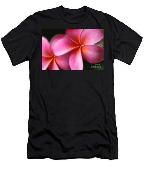 Pua Lei Aloha Cherished Blossom Pink Tropical Plumeria Hina Ma Lai Lena O Hawaii Men's T-Shirt (Athletic Fit)