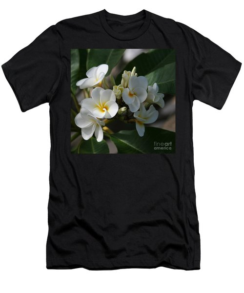 Pua Melia Na Puakea Onaona Tropical Plumeria Men's T-Shirt (Athletic Fit)