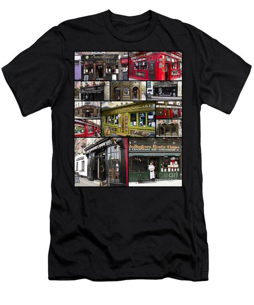 Pubs Of Dublin Men's T-Shirt (Slim Fit) by David Smith