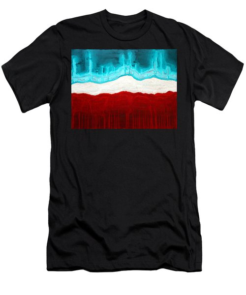 Pueblo Cemetery Original Painting Men's T-Shirt (Athletic Fit)