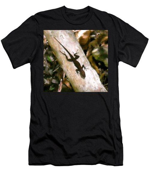 Men's T-Shirt (Slim Fit) featuring the photograph Puerto Rico Lizard by Daniel Sheldon