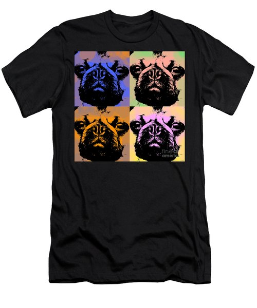 Pug Pop Art Men's T-Shirt (Slim Fit) by Jean luc Comperat