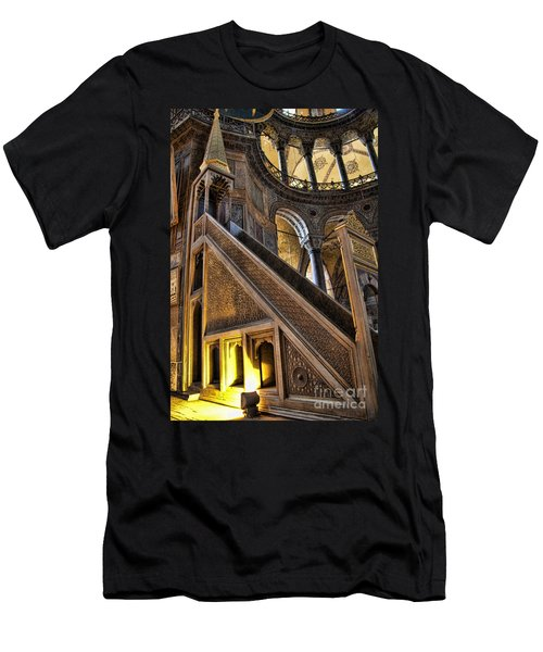Pulpit In The Aya Sofia Museum In Istanbul  Men's T-Shirt (Slim Fit) by David Smith