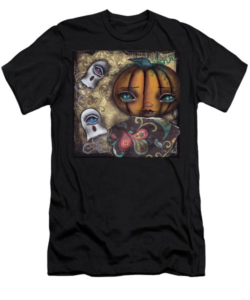 Pumpkin Girl Men's T-Shirt (Slim Fit) by Abril Andrade Griffith