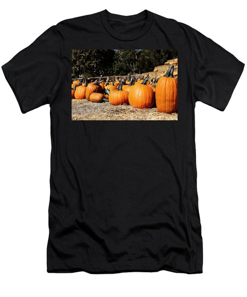 Pumpkin Goofing Off Men's T-Shirt (Athletic Fit)