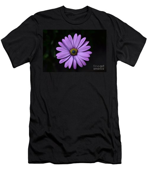 Purple African Daisy Men's T-Shirt (Athletic Fit)