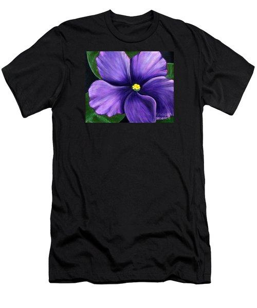 Purple African Violet Men's T-Shirt (Athletic Fit)