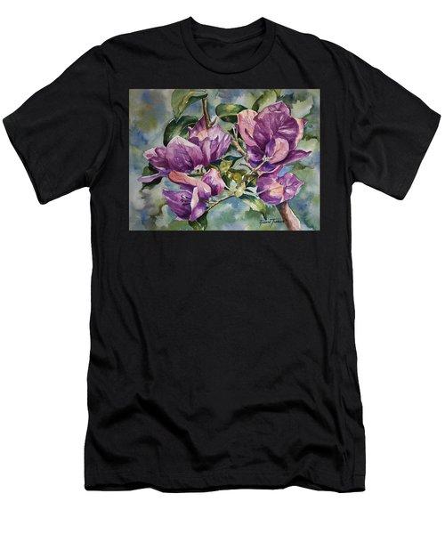 Purple Beauties - Bougainvillea Men's T-Shirt (Athletic Fit)