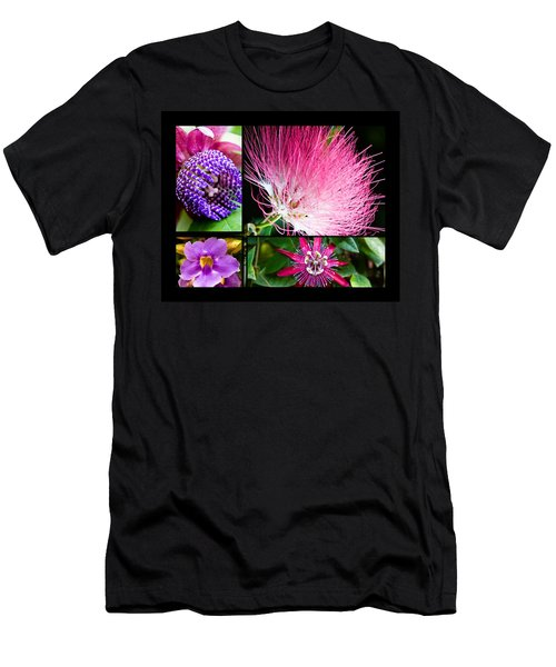 Purple Bouquet Men's T-Shirt (Athletic Fit)