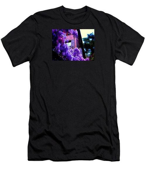 Purple Cheer Men's T-Shirt (Slim Fit) by Zafer Gurel