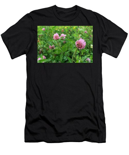 Purple Clover Wild Flower In Midwest United States Meadow Men's T-Shirt (Athletic Fit)