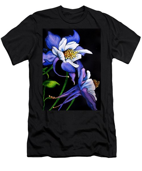 Purple Columbine Men's T-Shirt (Athletic Fit)