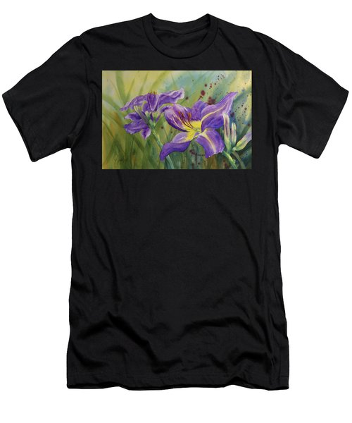 Purple Day Lily Men's T-Shirt (Athletic Fit)
