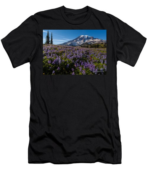 Purple Fields Forever And Ever Men's T-Shirt (Slim Fit) by Mike Reid